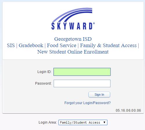 Skyward Family & Student Access / Parent Accounts & Logins