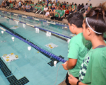 Sea Perch competition at indoor pool